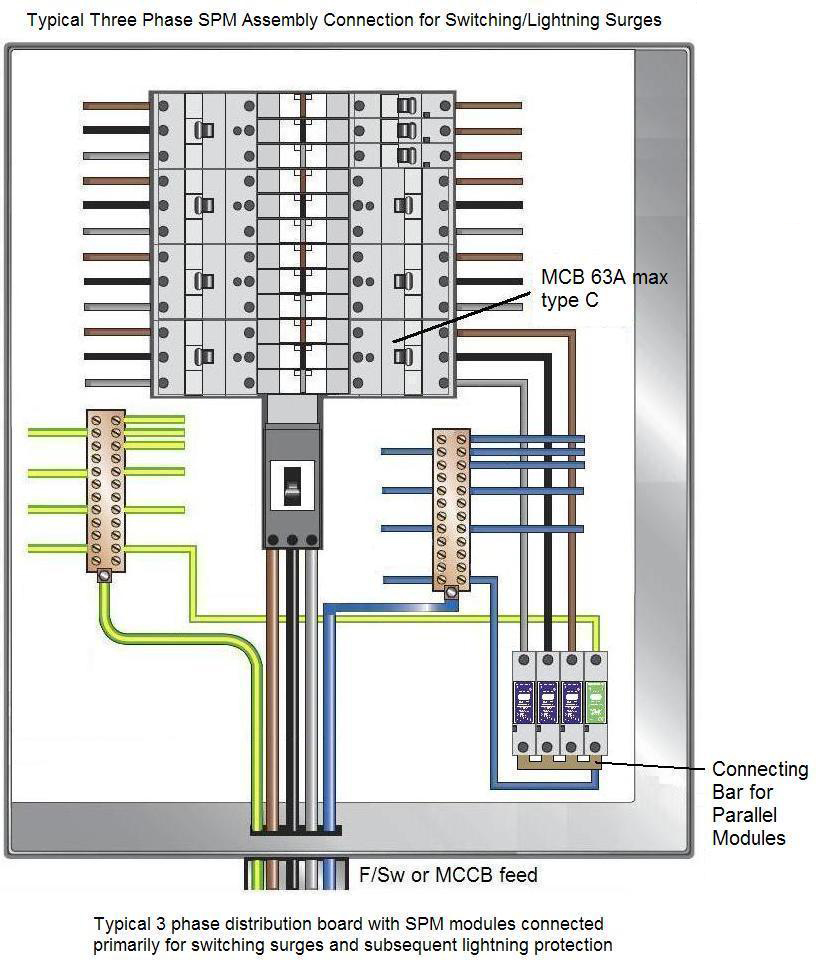 3P_DSPM_Assembly_Connection_Switching_Surges installation instructions dorman smith switchgear 3 phase surge protector wiring diagram at nearapp.co